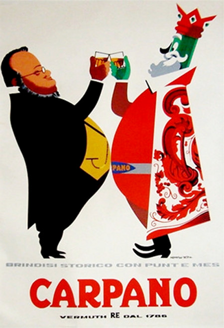 1950s Original Italian Poster, Carpano