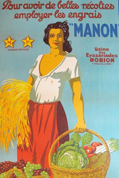 Original 1920s Poster - Engrais Manon