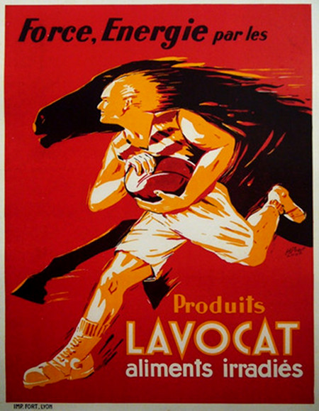 Original 1940s French Soccer Poster Produits Lavocat
