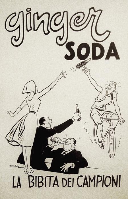 1930s Original Italian Art Deco Maquette, Ginger Soda