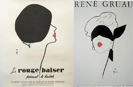 René Gruau - Le rouge baiser