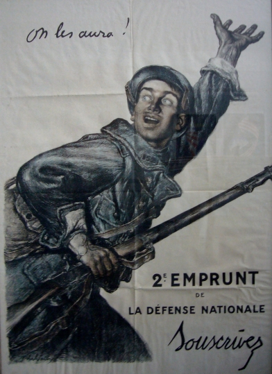 1924 French War Poster, On Les Aura Mini Poster - Faivre