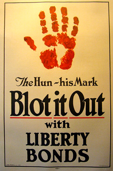 WWI Original Poster - Blot it Out with Liberty Bonds - Anonymous