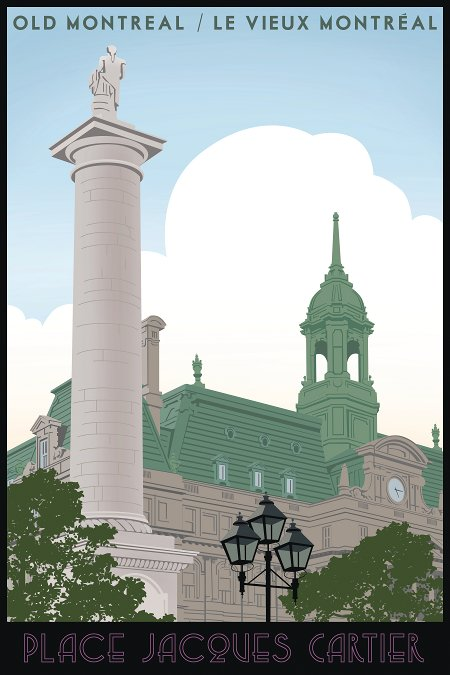 Montreal Travel Poster Steve Thomas