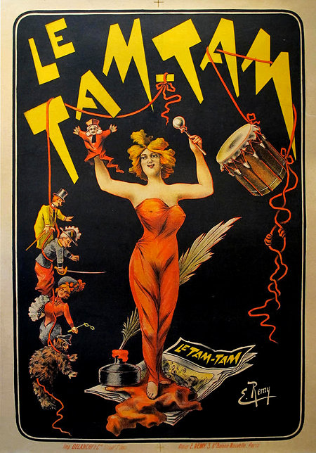 Early 1900s Original French Poster, Le TamTam - Remy