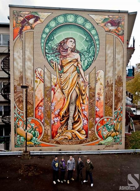 Mucha Montreal Mural