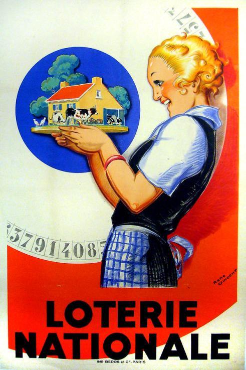 original-1925-vintage-french-lottery-poster-linen-backed-rene-vincent