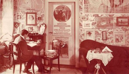 Dr. Hans Sachs in his study.