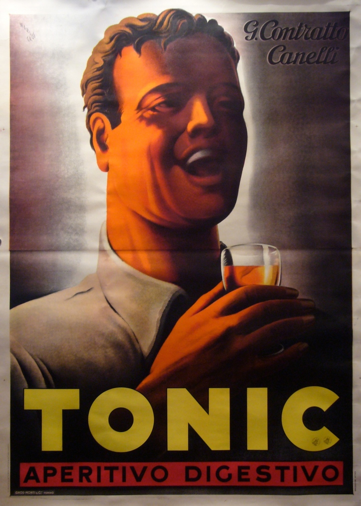 1930s Original Italian Tonic Advertisement .