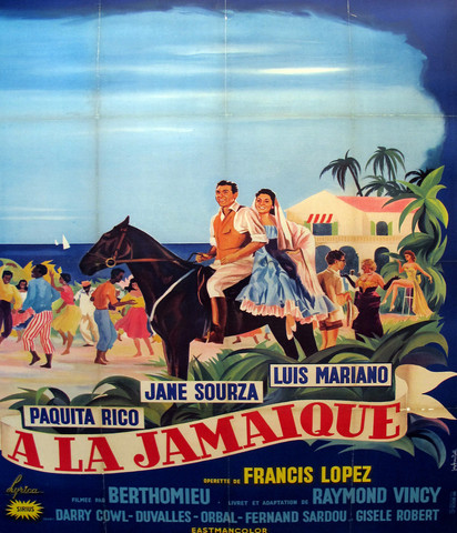 1957 Original French Hollywood Movie Poster!