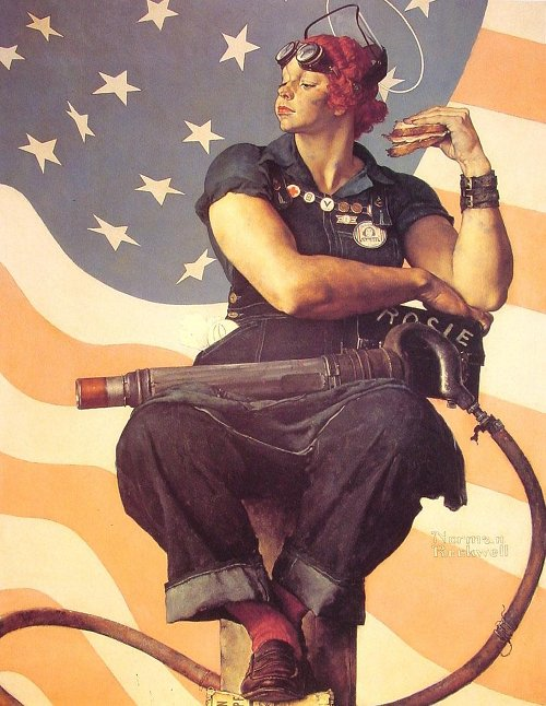 Norman Rockwell - Rosie the Riveter.