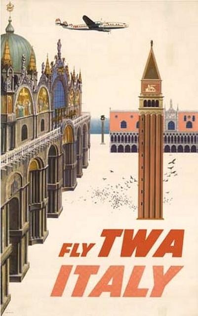 David Klein for TWA (1950s). Italy