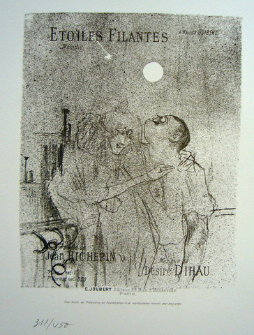 A limited edition Lautrec from a series that was printed from the original plates.
