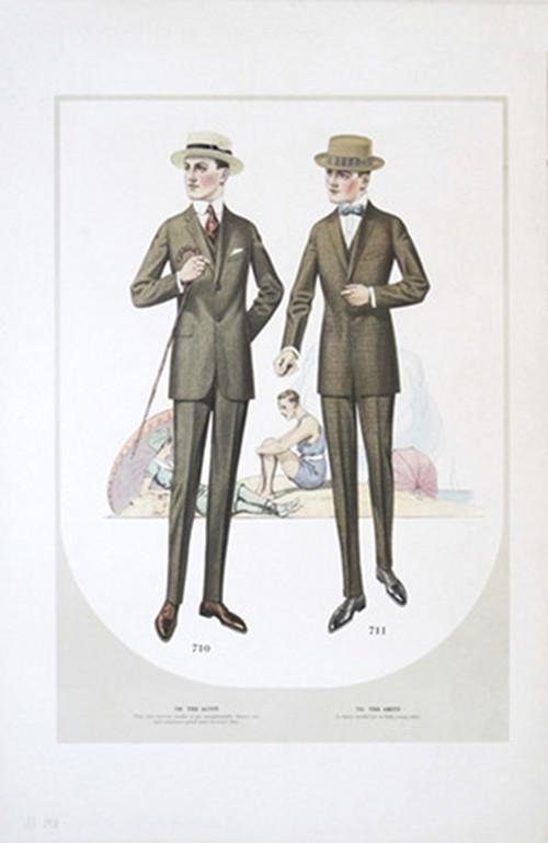 1915 Original Men's Fashion Plate, Taylor Clothes Company
