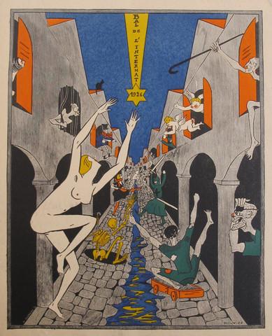 Original 1926 Art Deco Bal de L'Internat Party Invitation