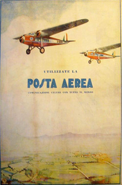 1932 Original Italian Advertisement, Posta Aerea, Il Popolo d'Italia - Batto