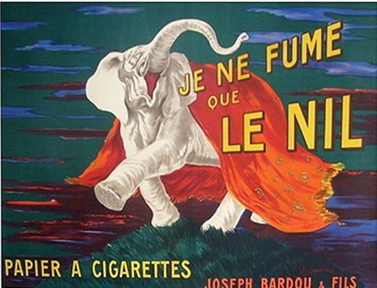 1912 French Art Deco Poster, Je Ne Fume Que Le Nil - Cappiello