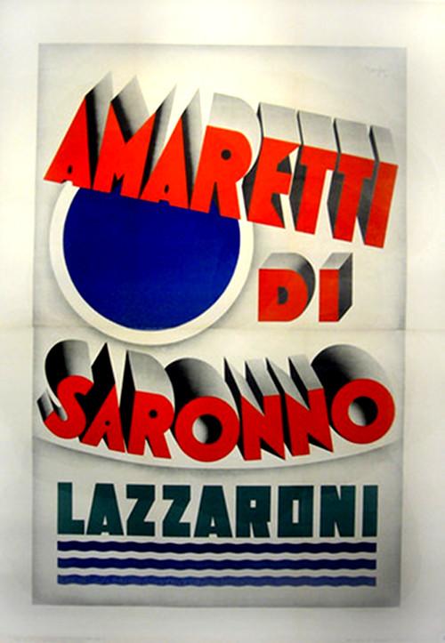 1932 Italian Art Deco Poster, Amaretti Di Saronno -Marchesi