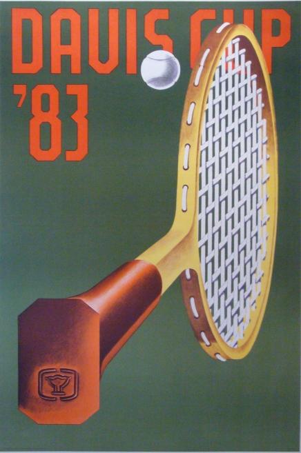 1983 Davis Cup Tennis Poster - Klapcheck