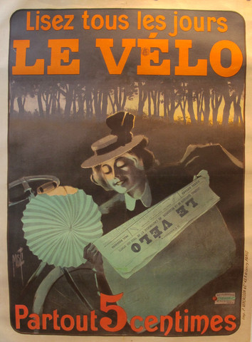 1899 Original French Art Nouveau Poster, Le Velo - Misti