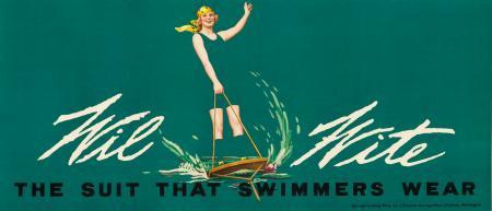 1936 American Poster - White Swimwear Anonymous