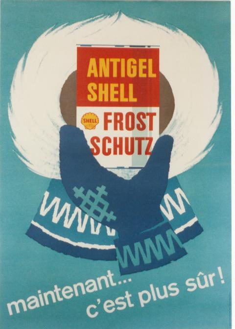 1959 Shell Antigel Poster