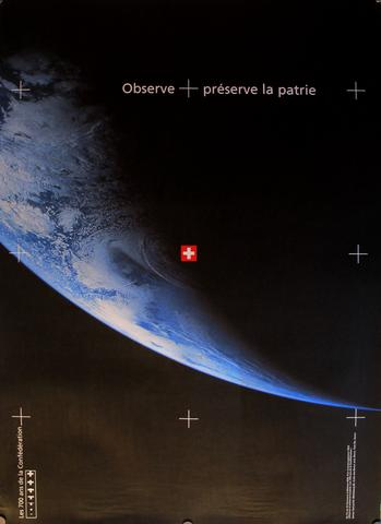 ... then zoom off towards Earth as shown in this poster from 1991!