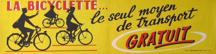 Bicyclette Seul Moyen de Transport Gratuit1